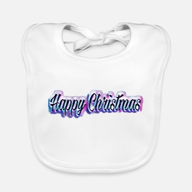 Happy Christmas Happy Christmas - Baby Bib