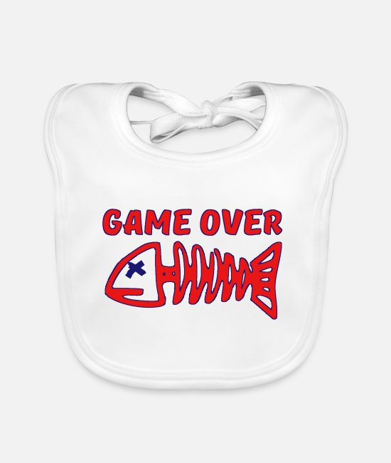 Pro Gamer Baby Bibs - GAME OVER - Baby Bib white