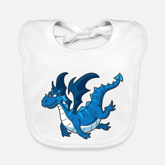 Big Baby Clothes - Dragons - Baby Bib white