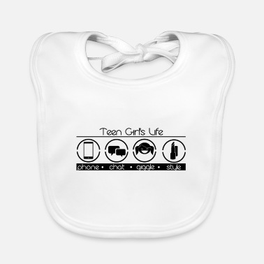 Teenager The everyday life of a teenager girl - Baby Bib