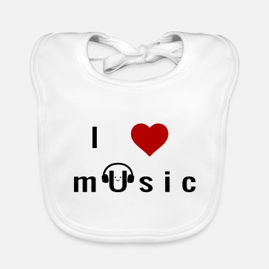 Love I Love Music - Baby Bib