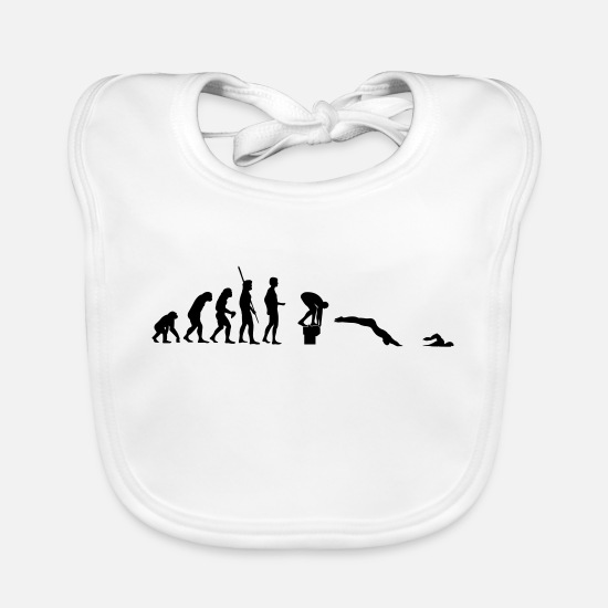Ape Baby Clothes - evolution float - Baby Bib white