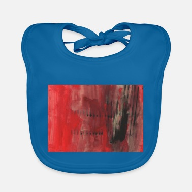 Red And Black red and black abstract - Baby Bib