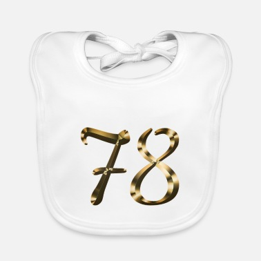 Lucky Number 78 year old 78 year old gold 78th birthday gift - Baby Bib