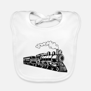 Locomotive Locomotive / Locomotive 02_black - Baby Bib