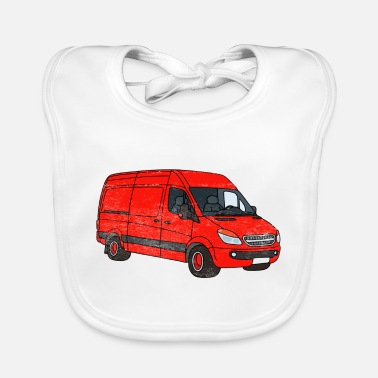 Streaker Van Art Car Graphic - Baby Bib
