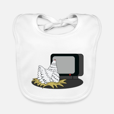 Watch Tv Chicken is watching TV - Baby Bib