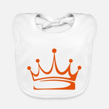 Crown to print on for hoodie, t-shirt, bag - Baby Bib