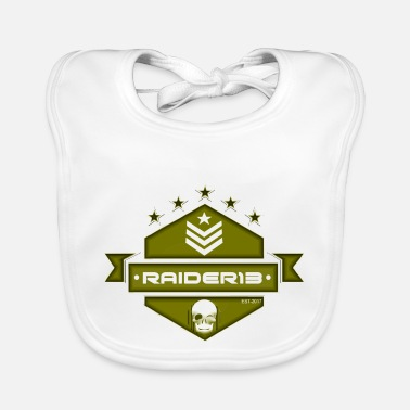 13 Raider Logo military - Babero
