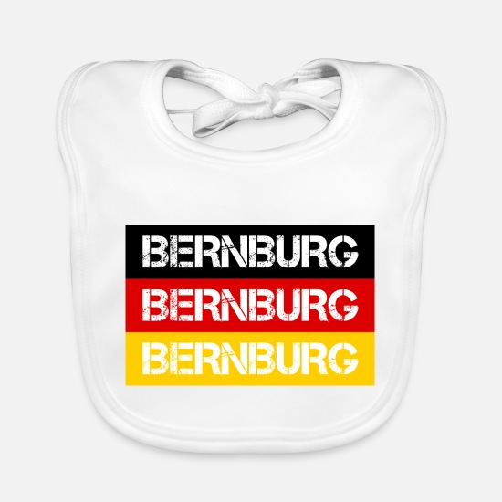 Federal Republic Of Germany Baby Clothes - STADT BERNBURG, GERMANY - Baby Bib white