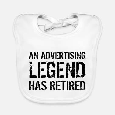 Advertising Director Retired Advertiser Advertising Retirement Gift - Baby Bib