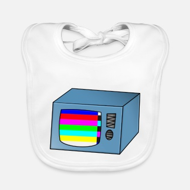 Tv TV TV TV with error - Baby Bib