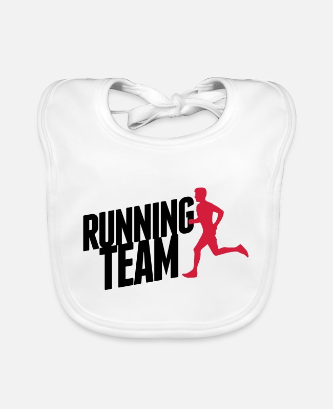 Speed Baby Bibs - Running Team - Baby Bib white