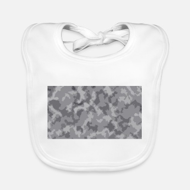 Camoflage Snow Camoflage Digitalized - Baby Bib
