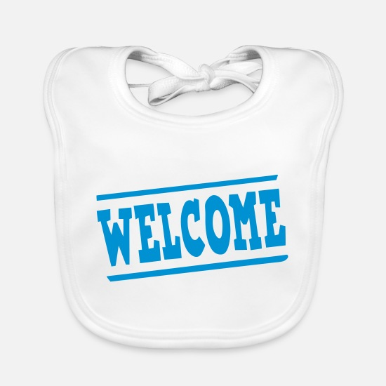 Panel Baby Clothes - welcome panel - Baby Bib white