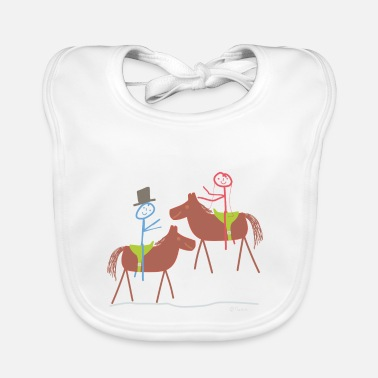 Relationship Marry horse, stick figure riding sport marriage - Baby Bib