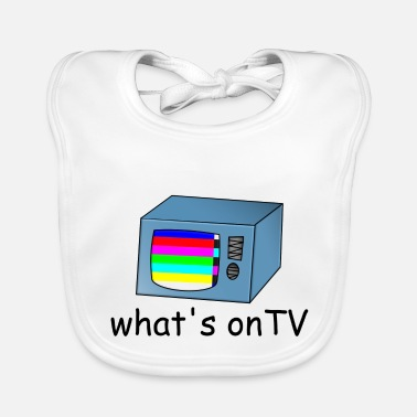 Tv TV TV with disturbance - Baby Bib