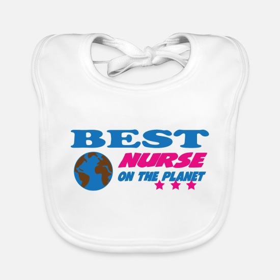 Doctor Baby Clothes - Best nurse on the planet - Baby Bib white