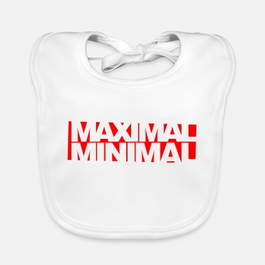 Minimum Maximum minimum Invert - Baby Bib
