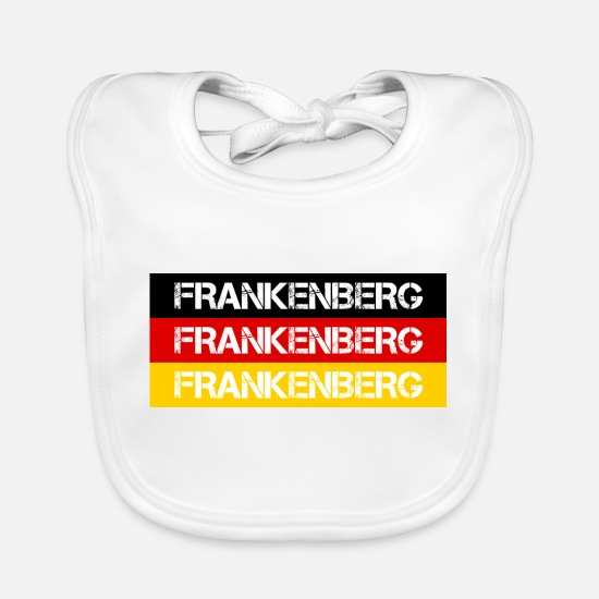 Federal Republic Of Germany Baby Clothes - STADT FRANKENBERG, GERMANY - Baby Bib white