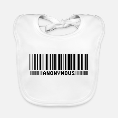 We Do Not Forgive Anonymous Barcode - We Are Legion - Shirt - Baby Bib