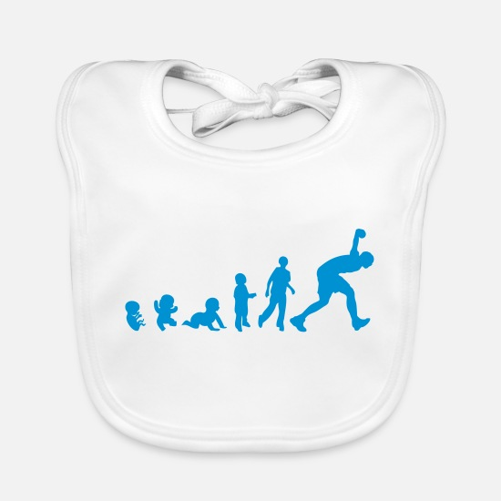 Ball Baby Clothes - Evolution ball Lyonnaise throwing game player - Baby Bib white