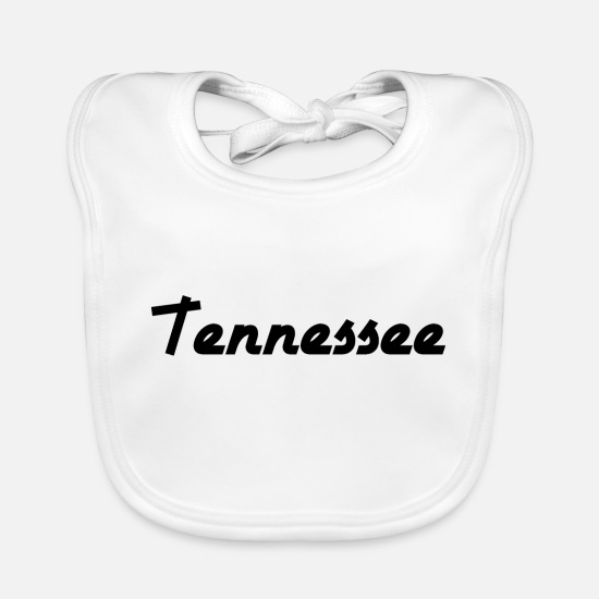 Usa Baby Clothes - Tennessee - Nashville - US State - United States - Baby Bib white