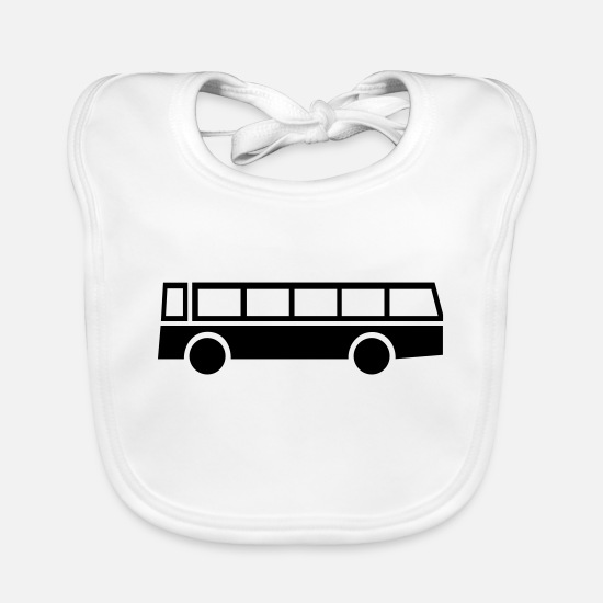 Bus Baby Clothes - bus,vehicle,mode of transport - Baby Bib white