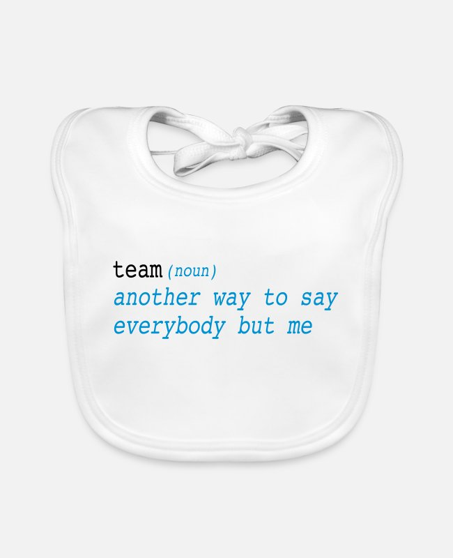 Office Baby Bibs - team - Baby Bib white
