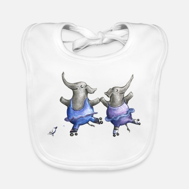 Shower Roller skate elephant dance - Baby Bib