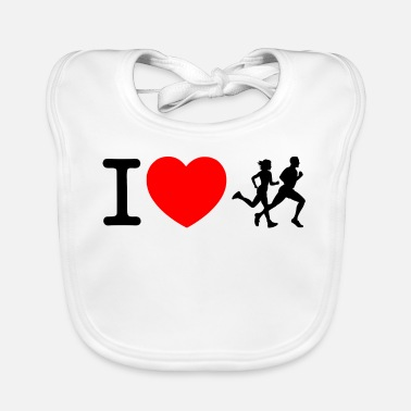 Sprinten I love racing - jogging - Baby Bib