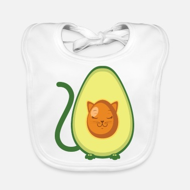 Illustration Cute Avocado Cat Illustration - Babero