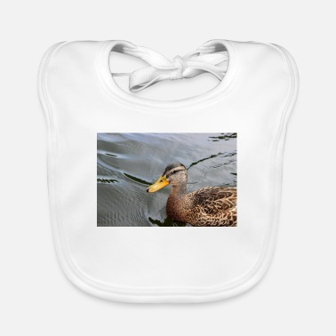 Animal Poster Duck duckling wild duck poster animal poster gift - Baby Bib