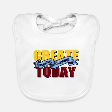 Typography Creativity typography - Baby Bib