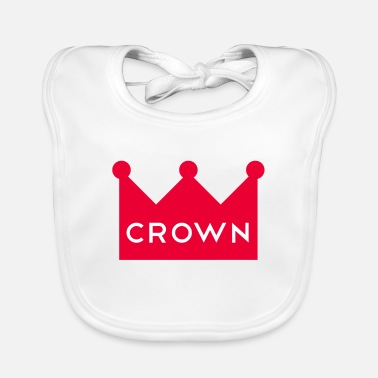 Crown Crown Couronne crown - Baby Bib