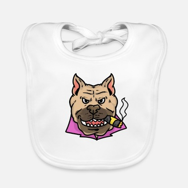 Cigar Dog with Cigar | Dog with cigar - Baby Bib