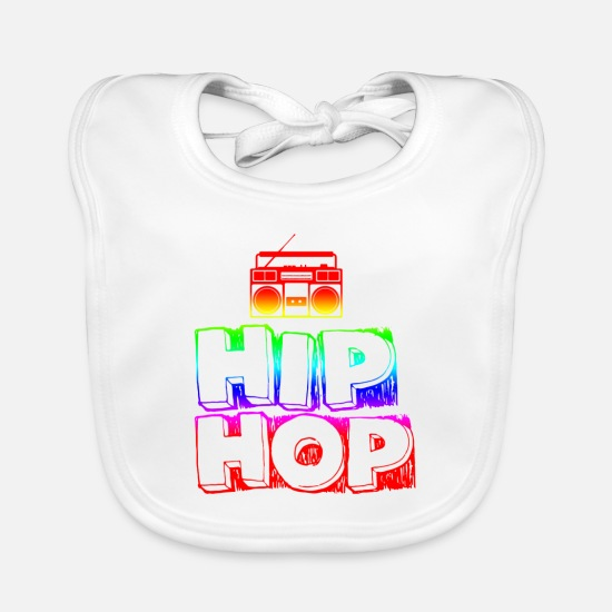 Hip Hop Baby Clothes - hip hop - Baby Bib white