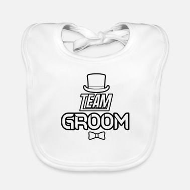 Party Bachelor Party Team Groom - Baby Bib