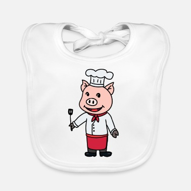 Hunger Chef cook restaurant gourmet kitchen job - Baby Bib