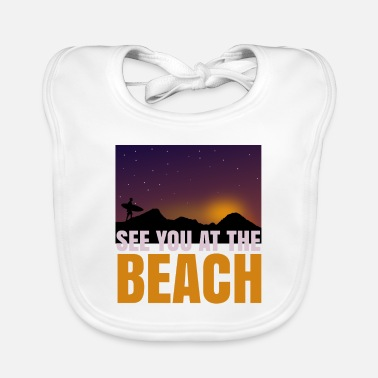 See you at the beach T-shirt gift - Baby Bib