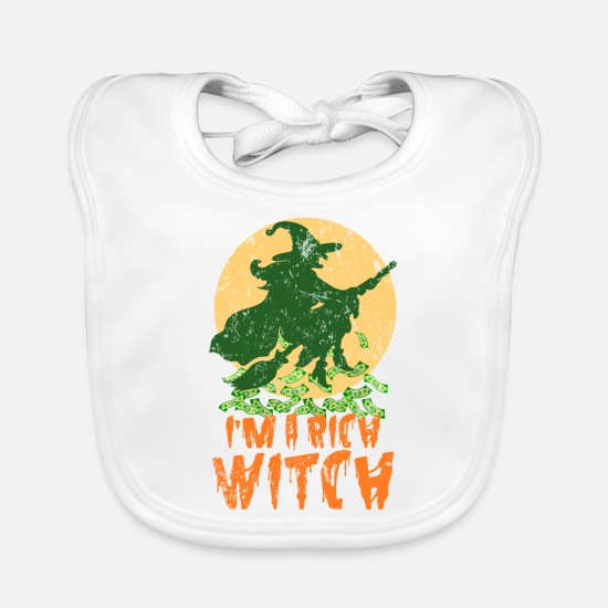 Zombie Apocalypse Baby Clothes - Witch money Halloween gift - Baby Bib white