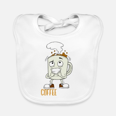Addicted Coffee Mug Addicted Caffeine Addict addict - Baby Bib