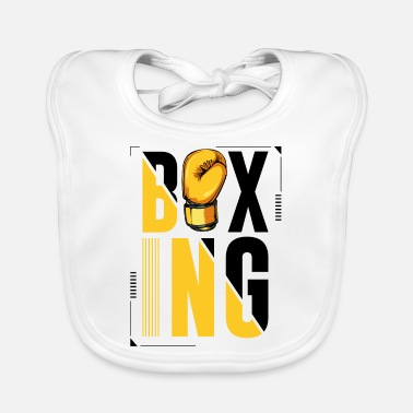 Letter Boxing Boxing lettering boxing gloves boxer gift - Baby Bib