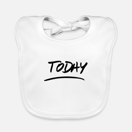 Word Baby Clothes - Today - Baby Bib white