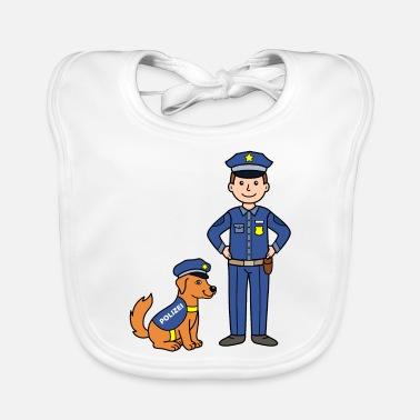 Police Dog Police officer and police dog - Baby Bib