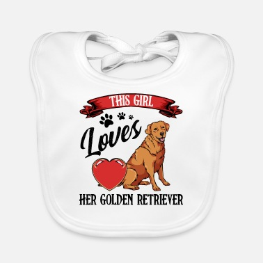 Retriever Golden retriever - Baby Bib