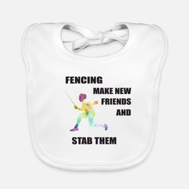 Training Fencing Fence Sport Gift for Fencer - Baby Bib