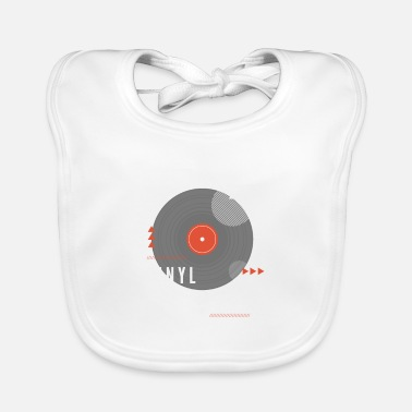 Turn Table vinyl is retro and great music quality - Baby Bib