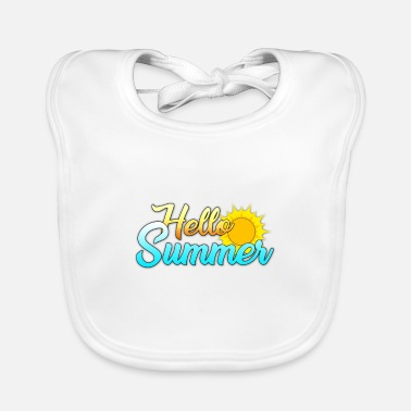 Summer design [Hello Summer] - Baby Bib