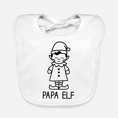 Family Crest Papa Elf - Fantasy and Christmas - Baby Bib
